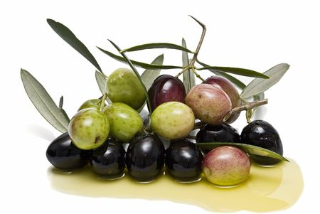 cholesterol: Olives and olive oil.