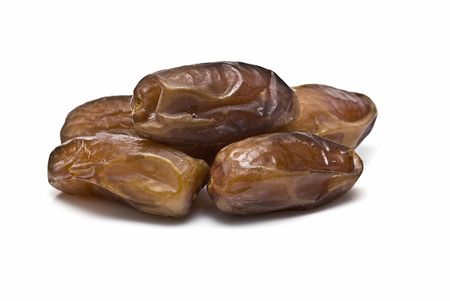 Dates isolated on white background. photo