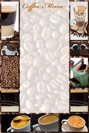 Coffee menu. Stock Photo - 6594524