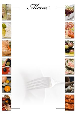 Restaurant menu in blank to fill.  Stock Photo