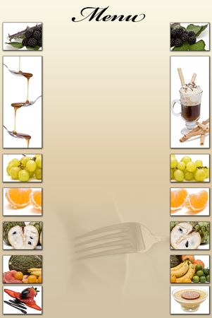 appetizers menu: Restaurant menu in blank to fill.  Stock Photo