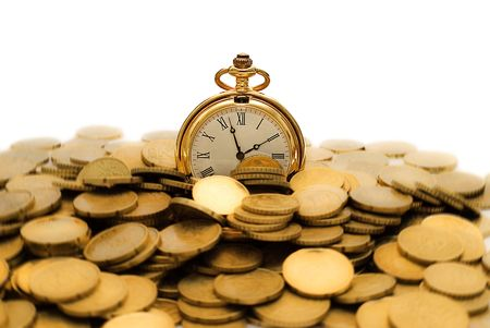 wage: Time is money. Stock Photo