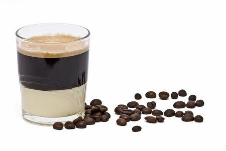 Bonbon coffee with condensed milk. photo