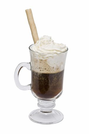 Coffee with whipped cream and wafers. Stock Photo - 6699589