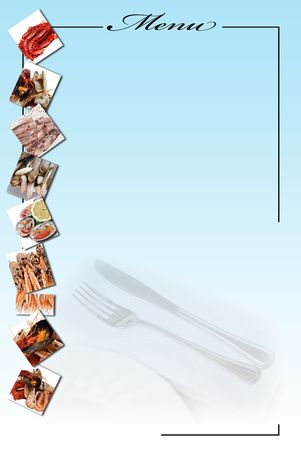 Menu card for restaurants. photo