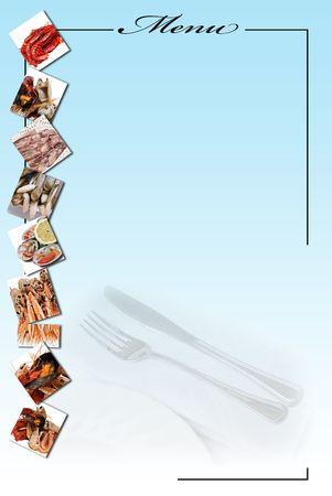 Tarjeta de menú para restaurantes. Foto de archivo - 6708618