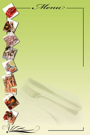 Menu card for restaurants. photo