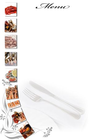 carta de postres: Tarjeta de men� para restaurantes. Foto de archivo
