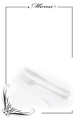 appetizer: Menu card for restaurants. Stock Photo