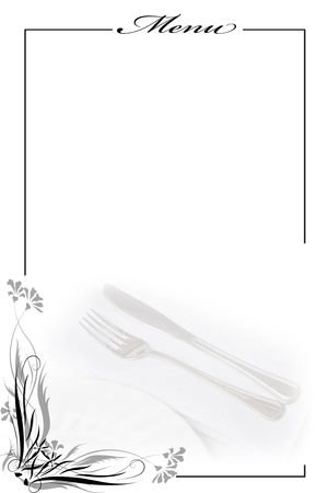 menu restaurant: Menu card for restaurants. Stock Photo