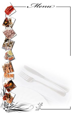 Menu card for restaurants. Stock Photo
