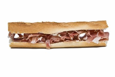 A sandwich of jam. photo
