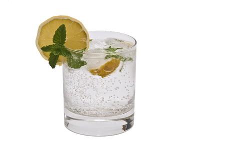 Gin tonic isolated on white background. photo