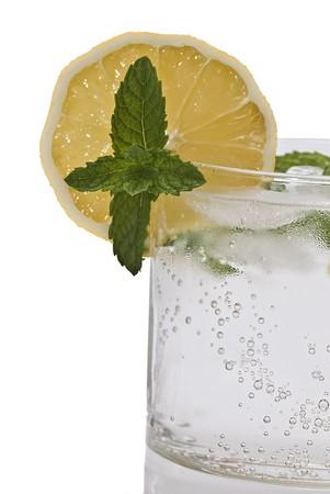 tonic: Gin tonic isolated on white background.