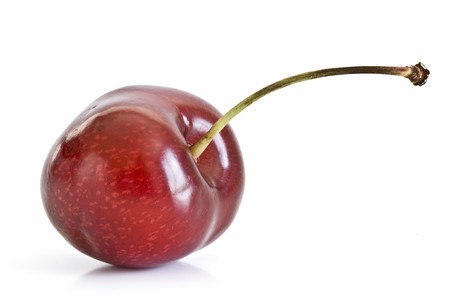 cherries: Cherry on a white background.