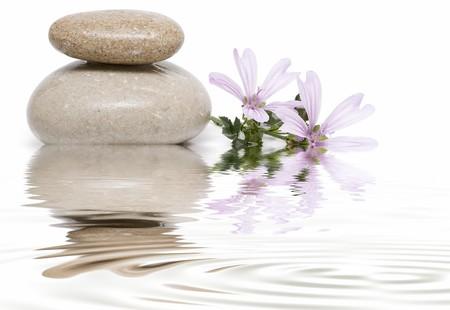 sooth: Healing stones in zen balance.