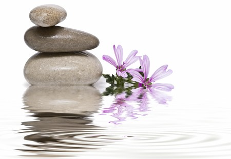 Healing stones in zen balance. photo