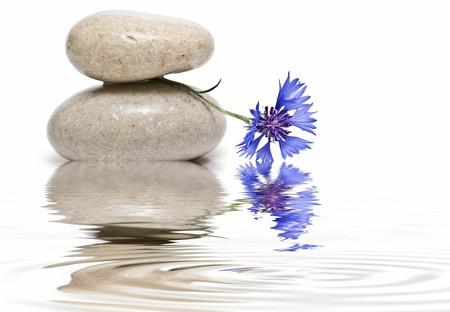 holiday stress: Healing stones in zen balance.