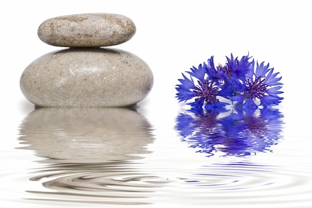 spiritual meditation creation: Healing stones in zen balance.