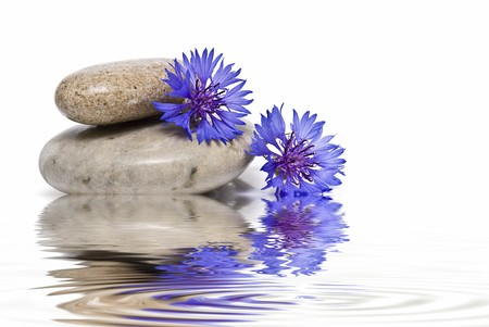 feng shui: Healing stones in zen balance.