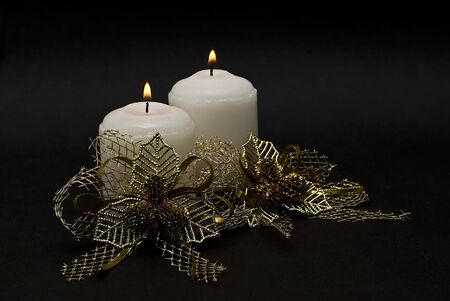 coronas navidenas: Tarjeta de Navidad con velas.