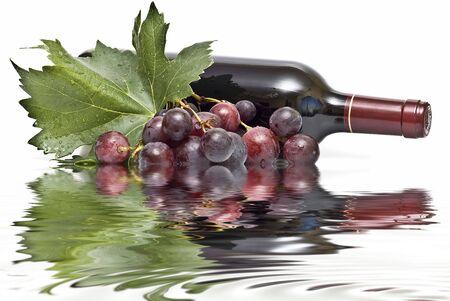 ワインとブドウの反射. 写真素材