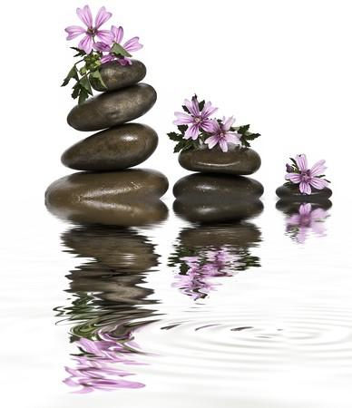癒しの石のバランス。