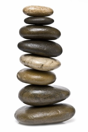 serenity: Healing stones in balance. Stock Photo