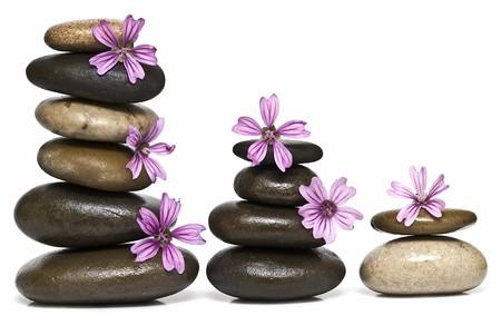 Healing stones in balance. photo