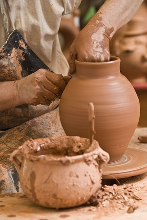 Potter working. Stock Photo - 7847498