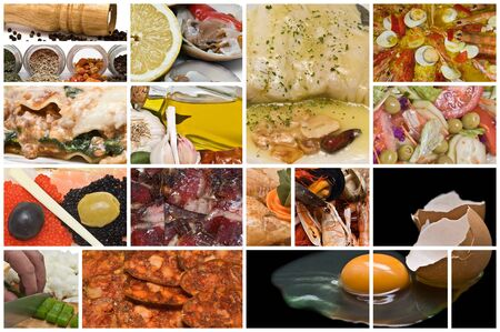 Collage about food. photo