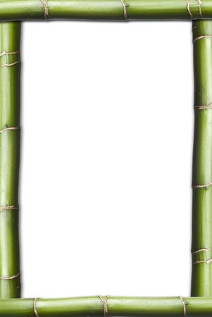 A frame with a copy space made of bamboo. photo