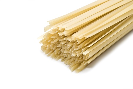Tagliatelle isolated on a white background. photo