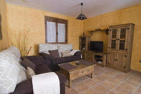 Living room in a country cottage. Stock Photo