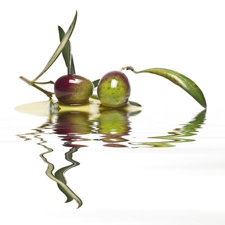 グリーン オリーブのペアは、オリーブ オイルに反映されます。