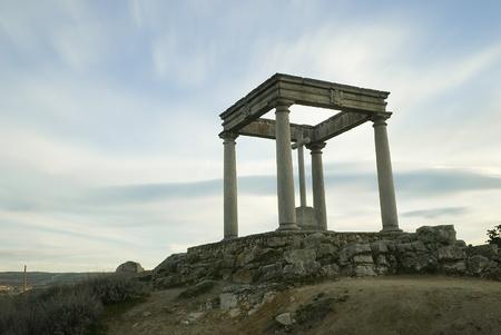 Four posts monument in Avila, Spain. photo
