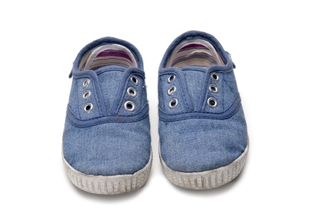 kids wear: Shoes for kids isolated over a white background.
