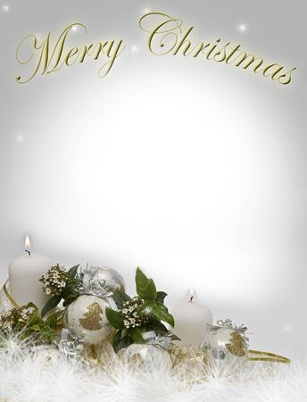 Christmas card with a copy space to writte. Stock Photo