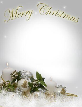 velas de navidad: Tarjeta de Navidad con un espacio de copia a escrito.