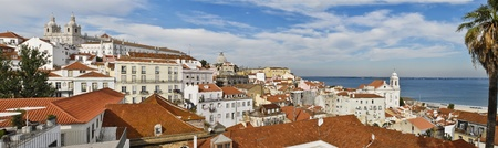 Panorama from Lisbon city in Portugal, Europe. photo