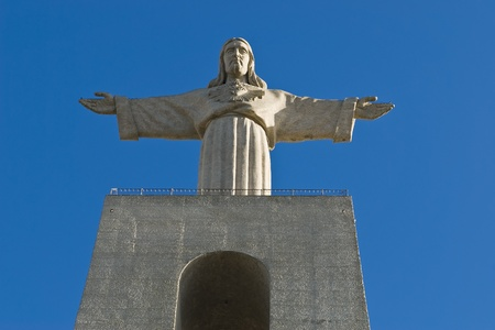 sacred heart: The Sanctuary of Christ the King (Portuguese: Cristo-Rei) is a Catholic monument and shrine dedicated to the Sacred Heart of Jesus Christ overlooking the city of Lisbon, Portugal.