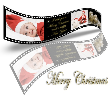 A Christmas card made in 35mm film style. Stock Photo - 11594569