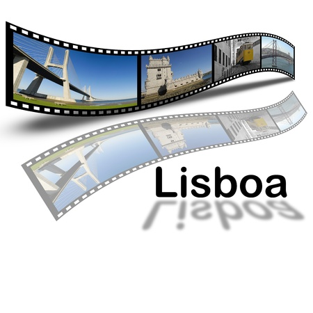Pictures about Lisbon city in film style. photo