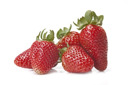 Fresh strawberries isolated on a white background  photo
