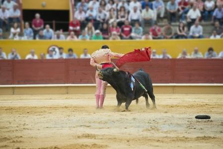 corrida de toros: Corrida de toros típica española en una tradicional plaza de toros
