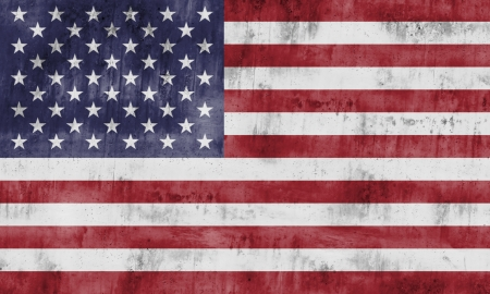 The flag of the United States of America with strong textures Stock Photo - 15445349
