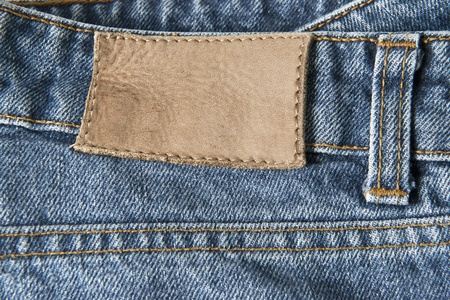 bluejeans: Blue jeans with a copy space in the empty leather label