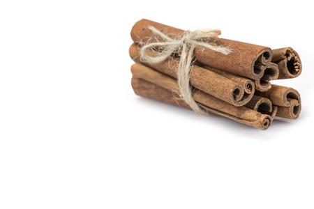 cinnamon stick: Cinnamon sticks isolated over a white background Stock Photo