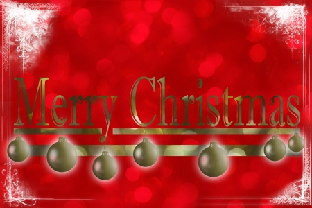 congratulate: Traditional Christmas card with bright colors to congratulate