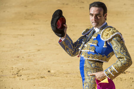 AVILA, SPAIN - JUNE 15: Enrique Ponce fights in the bullfight of Avila, a city near to Madrid in the middle of Spain in June 15, 2014.